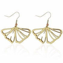 Gingko Leaf Earrings in Aspen
