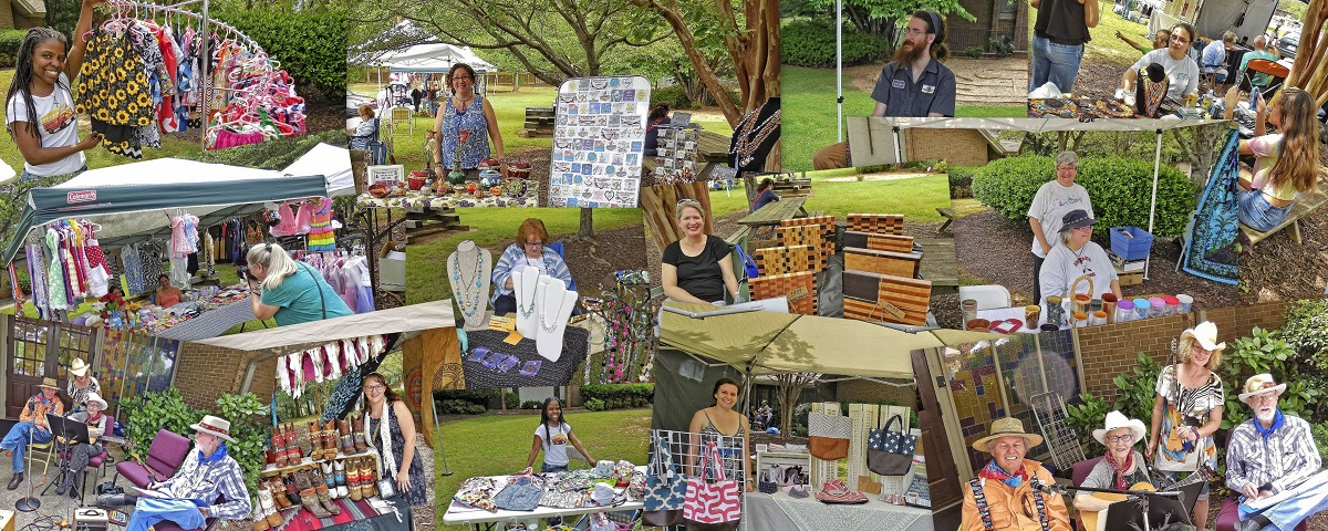 Views from the Peach Blossom Artisan Market - April 2017