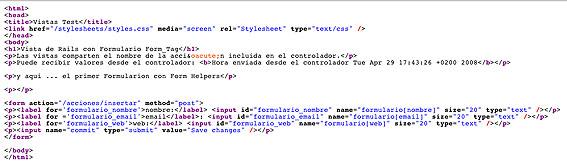 Ruby on Rails; Vistas, Formularios con Form Helpers y envío de parámetros (POST) (4/6)
