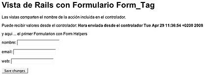 Ruby on Rails; Vistas, Formularios con Form Helpers y envío de parámetros (POST) (5/6)