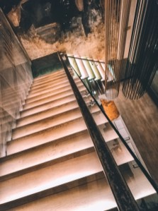 Looking onto the staircase