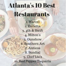 2015 Atlanta's 10 Best Restaurants