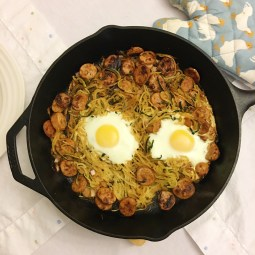Zucchini Noodle and Chicken Sausage Bake Recipe