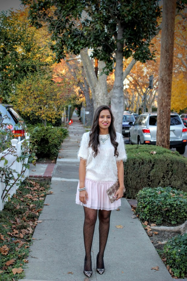 Pink Skirt Holiday Outfit 3