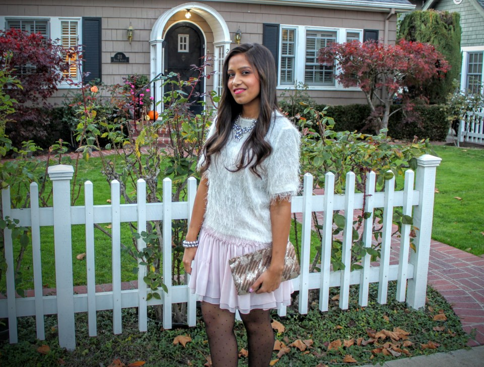 Pink Skirt Holiday Outfit 10