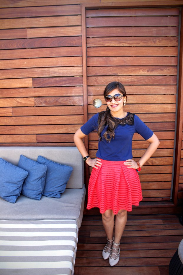 Red Skirt Blue Top 3