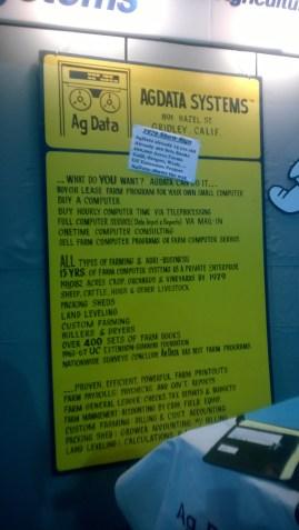 Ag Data Original Expo Poster circa 1979
