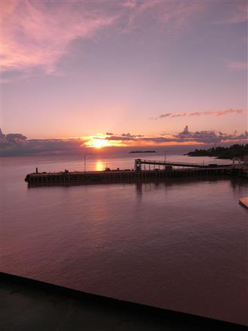 Sonnenuntergang auf dem Schiff 9