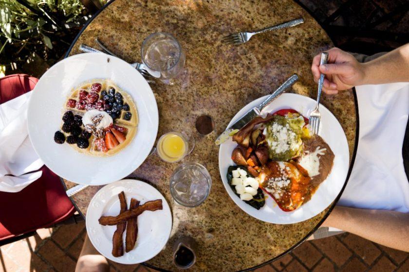 Breakfast in San Antonio Riverwalk