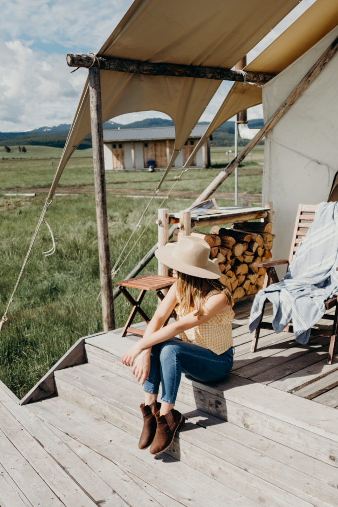 Glamping in West Yellowstone