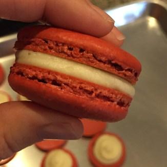 red velvet macaron