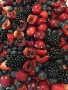 summer fruit salad with cherries
