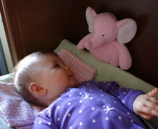 Baby on a changing table