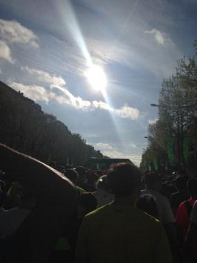 Sunny Paris Marathon race
