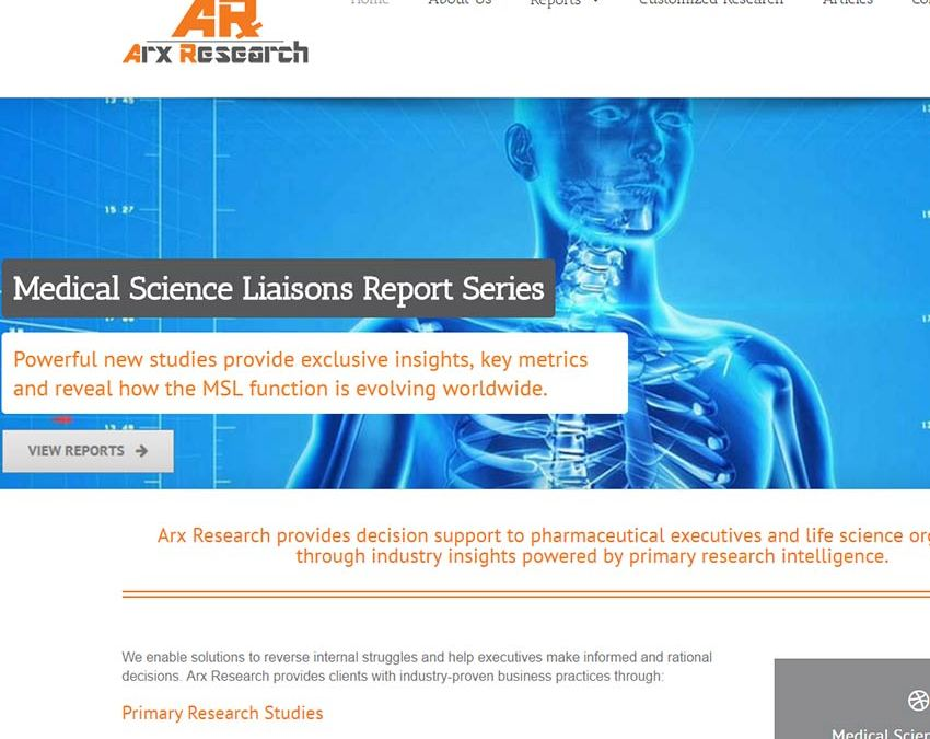 Arx Research Website Design