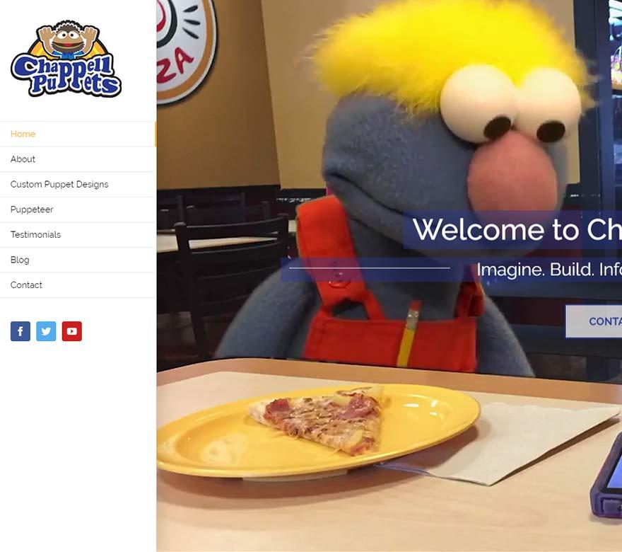 chappel puppet website design