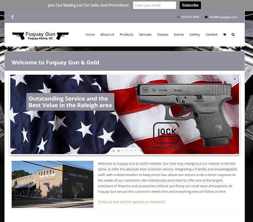 fuquay gun store website design