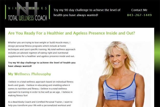 Nikki Hawks Personal trainer website design