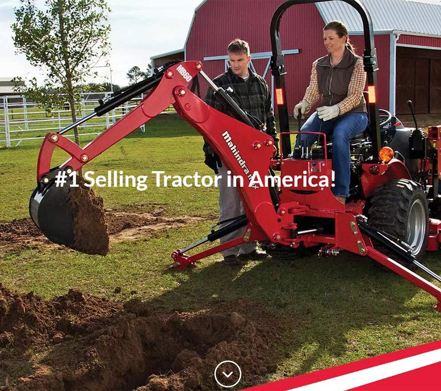 Tractor Sales Website Design