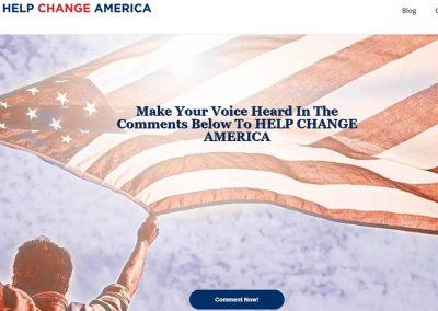 Help Change America Website Design