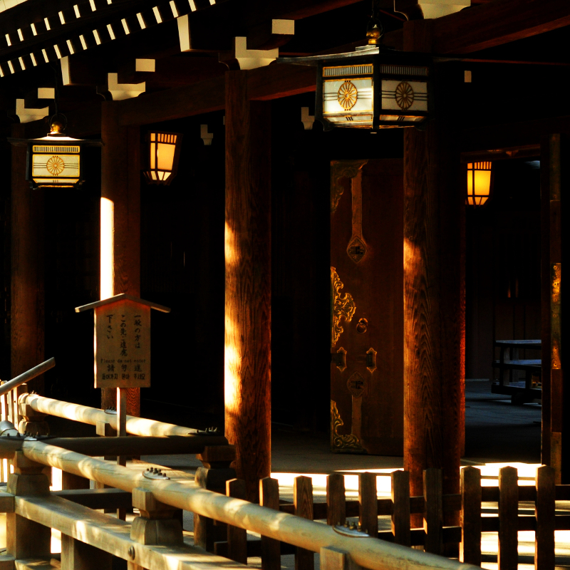 Meiji Shrine Lamps by Jayne Marek