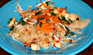 Lemongrass chicken with noodles