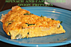 Spinach and Caramelized Onion Frittata