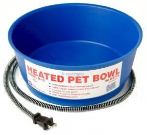Heated dog bowl