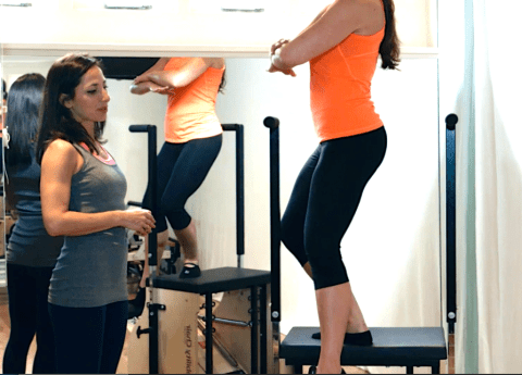 Peacock Pilates London - Reformer and Stability Chair Studio W2 - Pilates Chair/ Stability Chair/ Wunda Chair - Balancing Ana