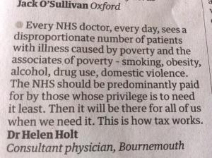 A succinct observation from a Dr about the NHS.