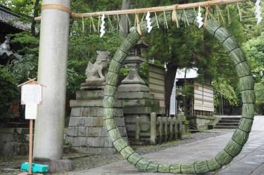 岡崎神社 entrance ring