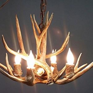 Mule deer antler chandeliers custom antler lighting made in usa s pine cone mule deer antler chandelier aloadofball Choice Image