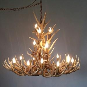 538 crestone peak mule deer antler chandelier gift