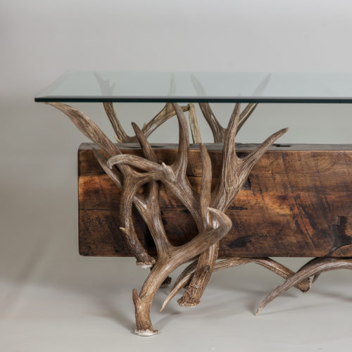 Mule Deer Antler Coffee Table Mountain Modern