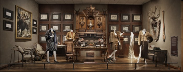 antler mirror in the glen bow museum