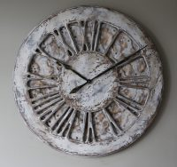 Large-Shabby-Chic-Wall-Clocks-White | Peak Art