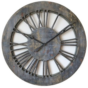 40 Quot Extra Large Handmade Grey Shabby Chic Wall Clock
