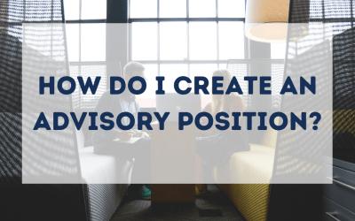 How do I Create an Advisory Position?