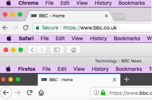titles in browser tabs