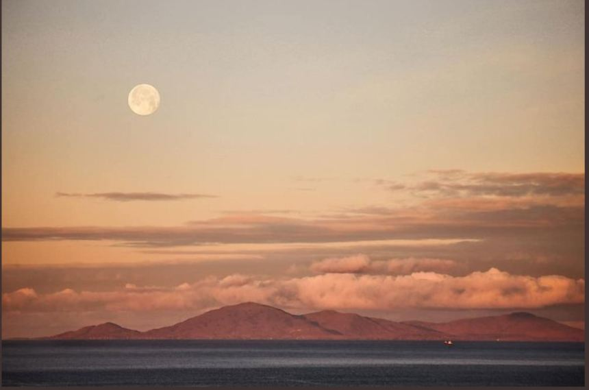 Moon over Harris