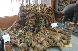 One of the carved stumps