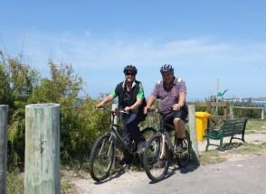 Cycling along Esperance Bay