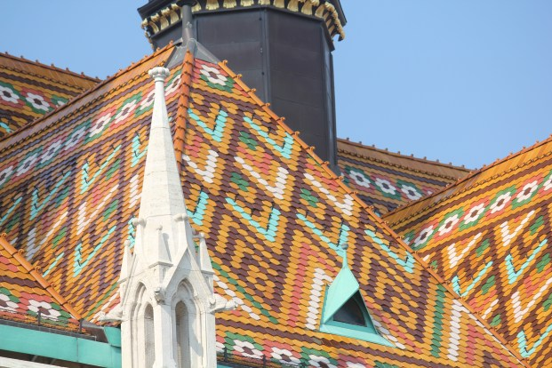 The tiles on the roof of Matthias Church are all hand painted.