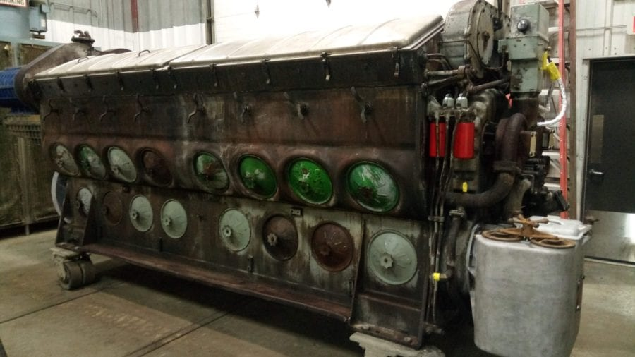 Illinois EMD engine remanufacturing before