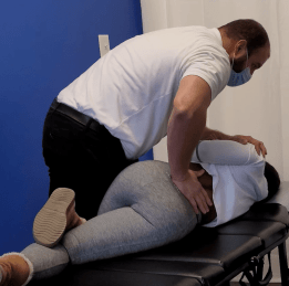 Specific chiropractic adjustment from the chiropractor near me!