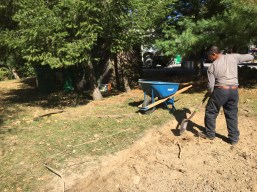 Driveway was expanded. Marco excavated new area