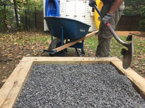 "We used 3/8"" bluestone gravel for each landing"