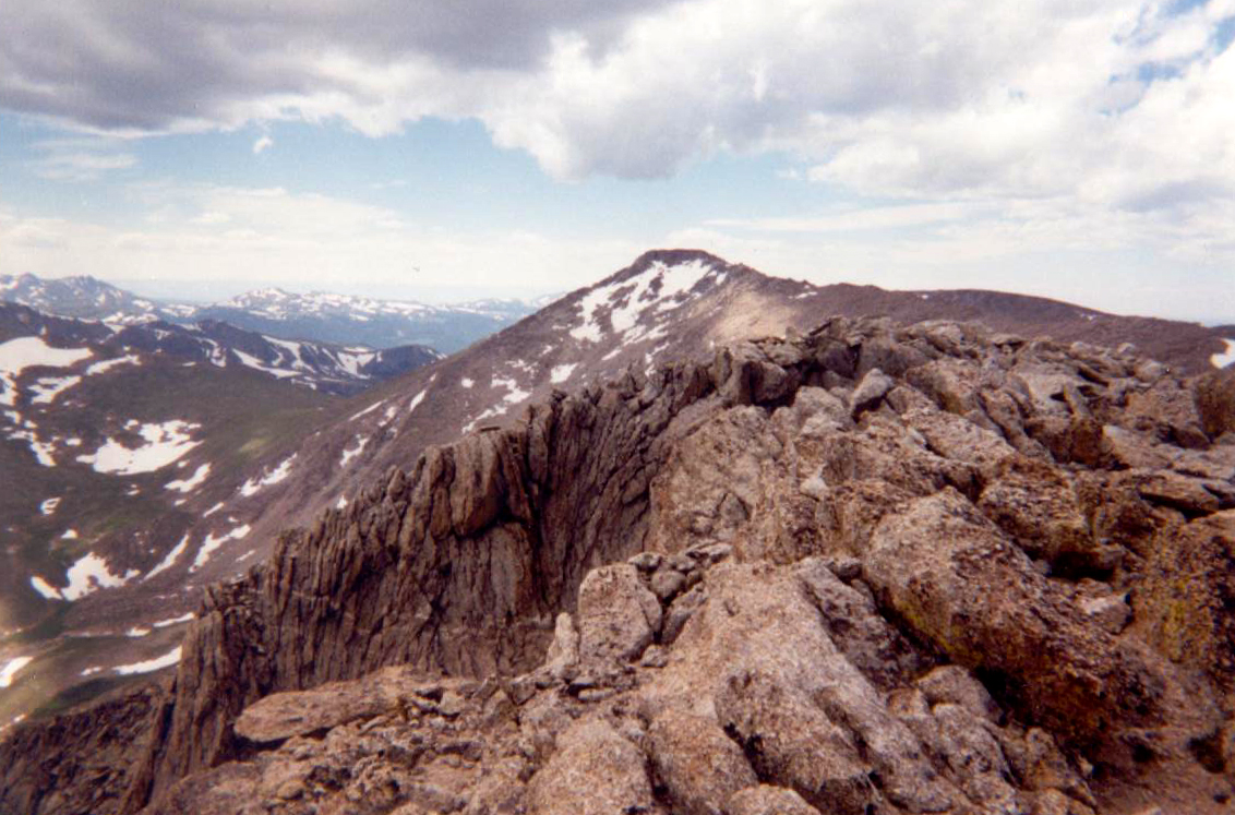 Looking back at Hagues from the summit of Mummy.