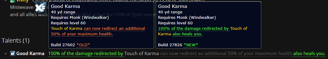 Windwalker PTR Build 27826: Putting the Good back in Good Karma