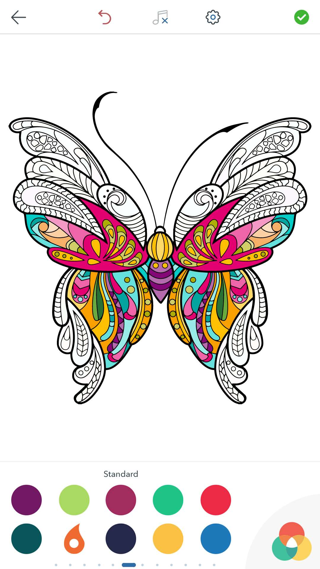 Adult Butterfly Coloring Pages For Android IOS And